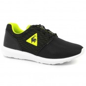 Basket Le Coq Sportif Dynacomf Gs 3D Mesh Fille Noir Jaune Site Officiel France
