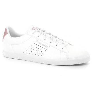Chaussures Le Coq Sportif Agate Lo S Lea/Metallic Femme Blanc Rose Vendre Paris
