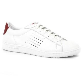 La Boutique Officielle Chaussures Le Coq Sportif Arthur Ashe Lea Femme Blanc Rouge