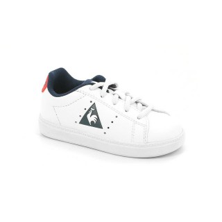 Mode Chaussures Le Coq Sportif Courtone Inf S Lea Fille Blanc Rouge