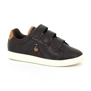 Officielle Chaussures Le Coq Sportif Courtone Ps S Lea Craft Garçon Marron