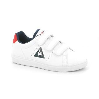Chaussures Le Coq Sportif Courtone Ps S Lea Garçon Blanc Rouge Promos Code