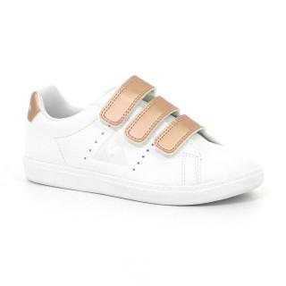 Acheter Nouveau Chaussures Le Coq Sportif Courtone Ps S Lea/Metallic Fille Blanc Rose En Ligne