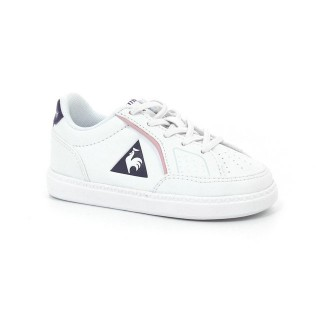 Chaussures Le Coq Sportif Icons Inf Girl Fille Blanc Violet Vendre