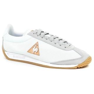 Chaussures Le Coq Sportif Quartz W Nylon Femme Blanc Gris Faire une remise