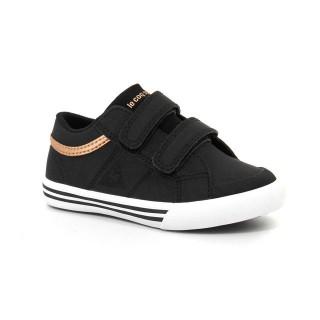 Soldes Chaussures Le Coq Sportif Saint Gaetan Inf S Nubuck/Glitter Fille Noir