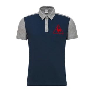 Site Officiel Le Coq Sportif Polo Tricolore Tennis Homme Bleu Gris Prix