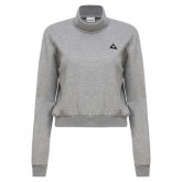 Le Coq Sportif Sweat Essentiels Crop Femme Gris Paris