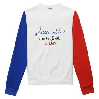 Achat de Le Coq Sportif Sweat Tricolore 1882 Homme Blanc
