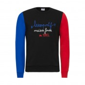 Le Coq Sportif Sweat Tricolore 1882 Homme Noir en Promo