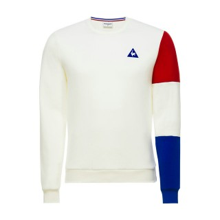 Le Coq Sportif Sweat Tricolore Homme Blanc Rabais prix