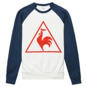 Paris Le Coq Sportif Sweat Tricolore Tennis Homme Bleu