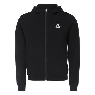 Le Coq Sportif Sweat à capuche zippé Tricolore Homme Noir Soldes