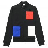 Soldes Le Coq Sportif Sweat zippé Tricolore 1882 Homme Noir