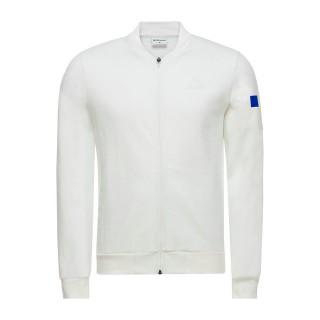 Le Coq Sportif Sweat zippé Tricolore Cycling Homme Blanc Pas Cher