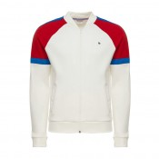 Le Coq Sportif Sweat zippé Tricolore Homme Blanc France Pas Cher