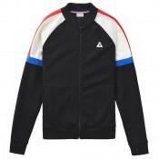 Vente Le Coq Sportif Sweat zippé Tricolore Homme Noir