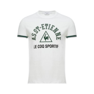 Le Coq Sportif T-shirt ASSE Fanwear Homme Blanc Soldes Provence
