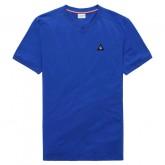 Le Coq Sportif T-shirt Essentiels Homme Bleu Blanc la Vente à Bas Prix