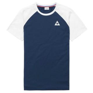 Le Coq Sportif T-shirt Essentiels n°2 Homme Bleu Blanc Promo prix