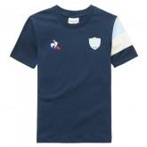 Le Coq Sportif T-shirt Racing 92 Fanwear Enfant Garçon Bleu Escompte En Lgine