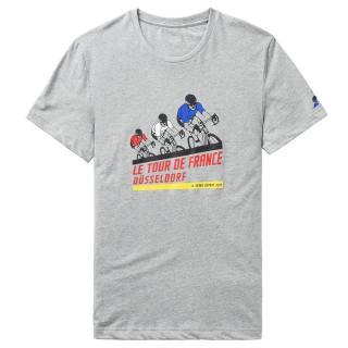 Original Le Coq Sportif T-shirt TDF 2017 Fanwear N°1 Homme Gris