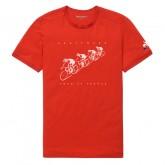 Le Coq Sportif T-shirt TDF 2017 Fanwear N°2 Homme Rouge Remise Paris en ligne
