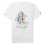 Collection Le Coq Sportif T-shirt TDF 2017 Fanwear N°5 Homme Blanc Soldes