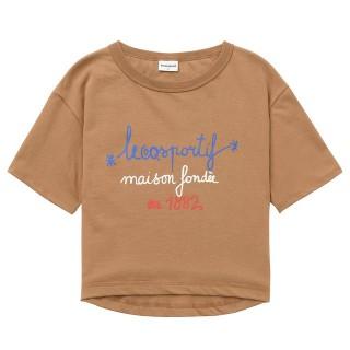 Le Coq Sportif T-shirt Tricolore 1882 Femme Marron Boutique