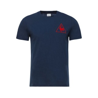 Le Coq Sportif T-shirt Tricolore Football Homme Bleu Boutique Paris