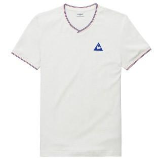 Le Coq Sportif T-shirt Tricolore Homme Blanc Rabais