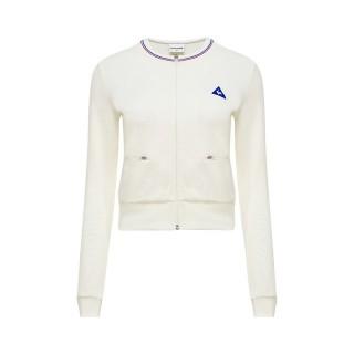 Le Coq Sportif Veste de survêtement Tricolore Femme Blanc Réduction Prix