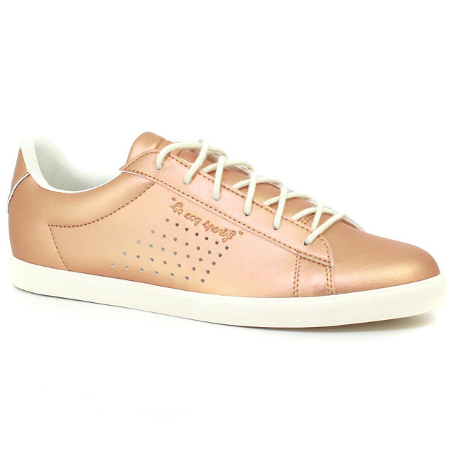 Basket Le Coq Sportif Agate Lo Pearlized Femme Rose Rose