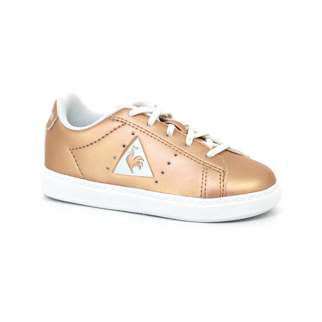 Basket Le Coq Sportif Courtone Inf Metallic Fille Rose Rose