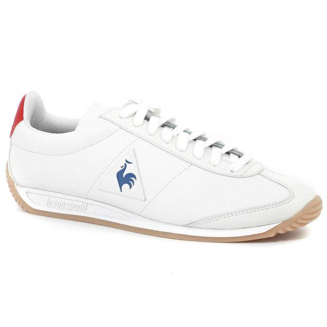 vente chaude Chaussures de skate acheter populaire Basket Le Coq Sportif Quartz Lea Sport Gum Femme Blanc Bleu ...