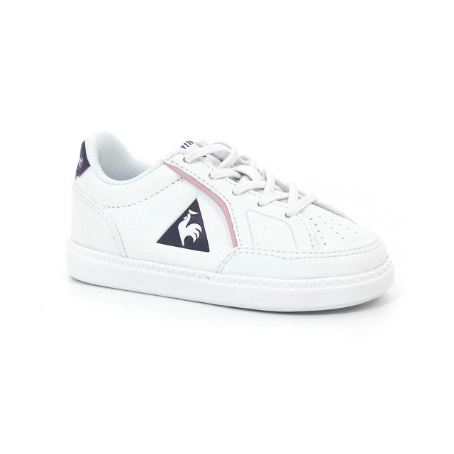 Chaussures Le Coq Sportif Icons Inf Girl Fille Blanc Violet
