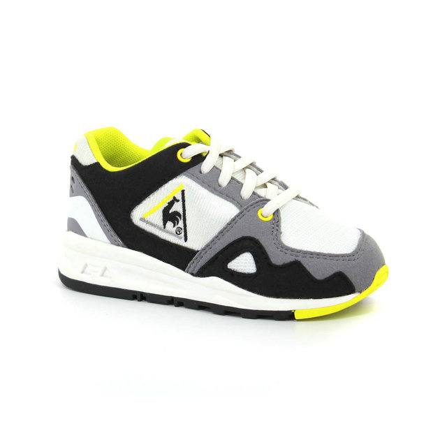 Chaussures Le Coq Sportif Lcs R1000 Inf Mesh Og Inspired Fille Blanc Jaune