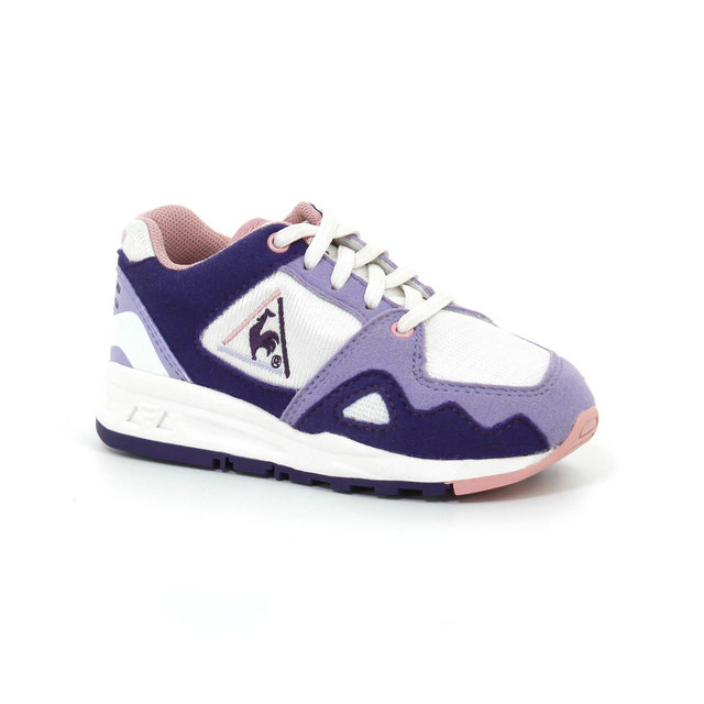 Chaussures Le Coq Sportif Lcs R1000 Inf Mesh Og Inspired Garçon Blanc Rose
