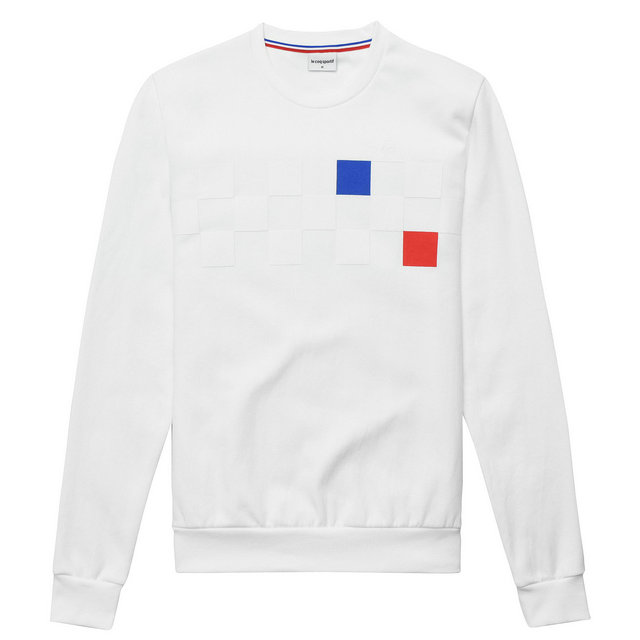 Le Coq Sportif Sweat Tricolore Cycling Homme Blanc