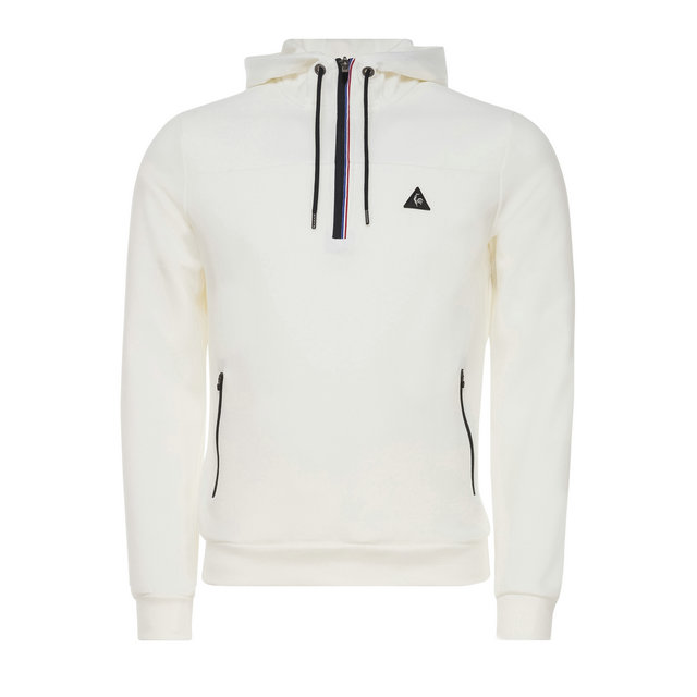 le coq sportif sweat capuche zipp lcs tech homme blanc personnalis. Black Bedroom Furniture Sets. Home Design Ideas