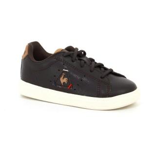 Vente Privee Chaussures Le Coq Sportif Courtone Inf S Lea Craft Garçon Marron