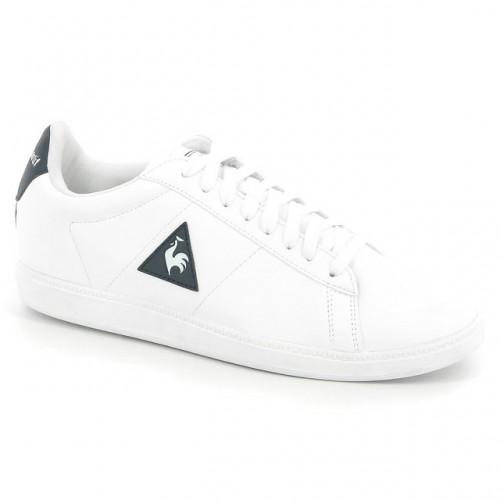 Chaussures Le Coq Sportif Courtset S Lea Homme Blanc Bleu Boutique France