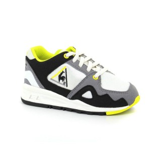 Authentique Chaussures Le Coq Sportif Lcs R1000 Inf Mesh Og Inspired Fille Blanc Jaune