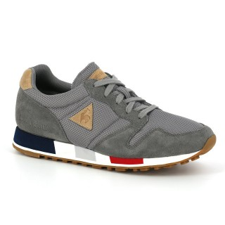 Chaussures Le Coq Sportif Omega MIF Mesh/Suede Homme Gris Soldes Provence
