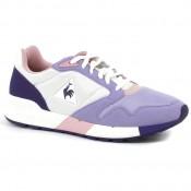 Chaussures Le Coq Sportif Omega X W Mesh Femme Blanc Violet en Promo
