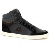Rabais Chaussures Le Coq Sportif Portalet Mid Craft Lea Homme Noir Marron