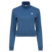 Le Coq Sportif Sweat Essentiels Crop Femme Bleu Soldes