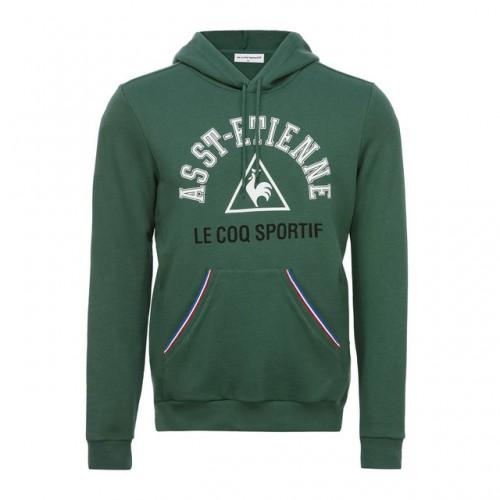8b47439dc18e Le Coq Sportif Sweat à capuche ASSE Fanwear Homme Vert Pas Cher Provence