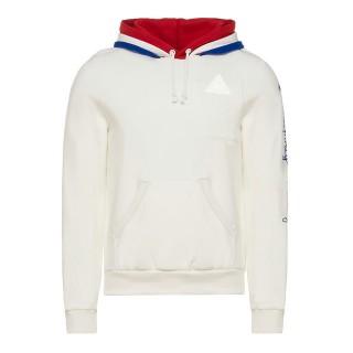 Le Coq Sportif Sweat à capuche Tricolore 1882 Homme Blanc au Meilleur Prix