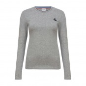 Vente Privee Le Coq Sportif T-Shirt Manches Longues Essentiels Femme Gris